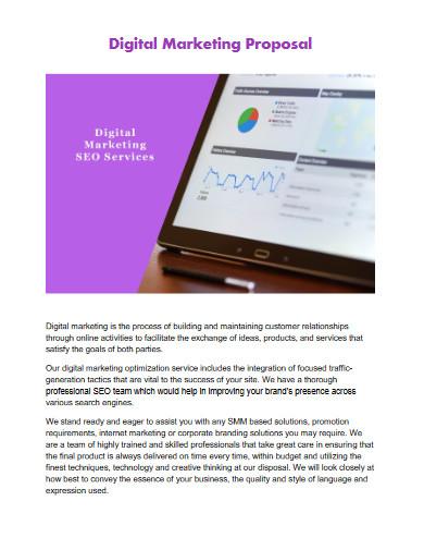 printable digital marketing proposal