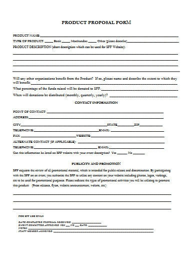 product proposal form