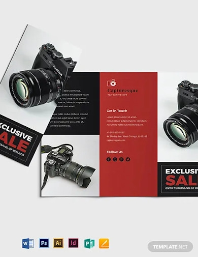 product sales brochure template