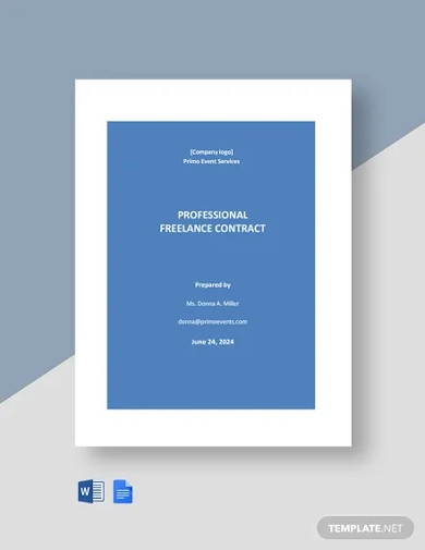 professional freelance contract template
