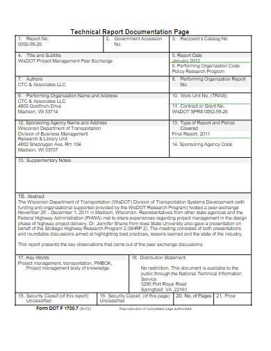 project management peer exchange report