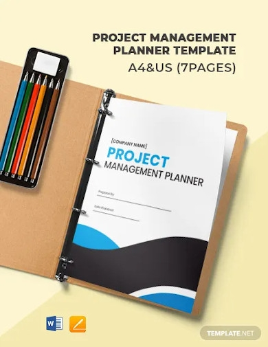 project management planner template