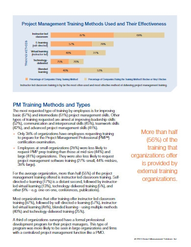 project management training research report