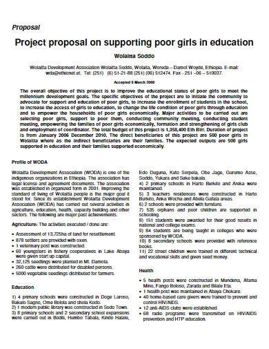 project proposal for poor child education