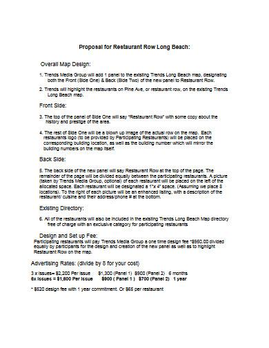proposal for restaurant