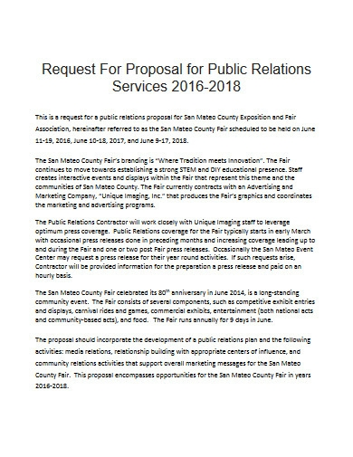 public relations service proposal in pdf