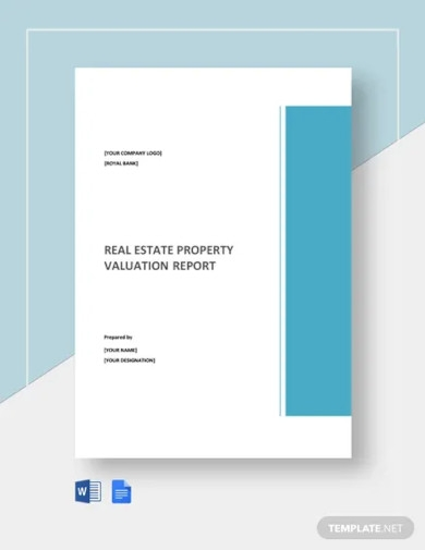 real estate property valuation report template