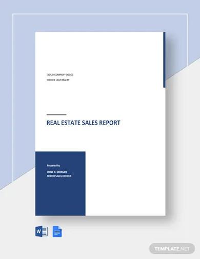 real estate sales report templates