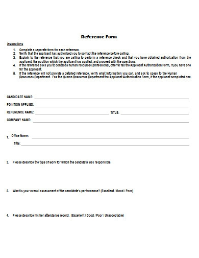 reference form example
