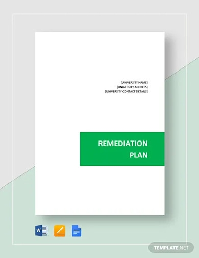 remediation plan template