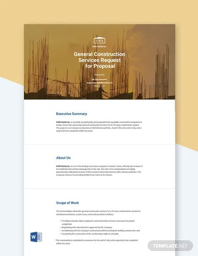 request for proposal sample template
