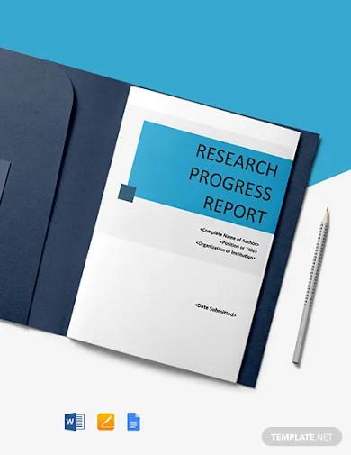 research progress report template