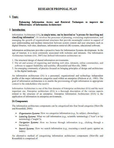 research proposal plan