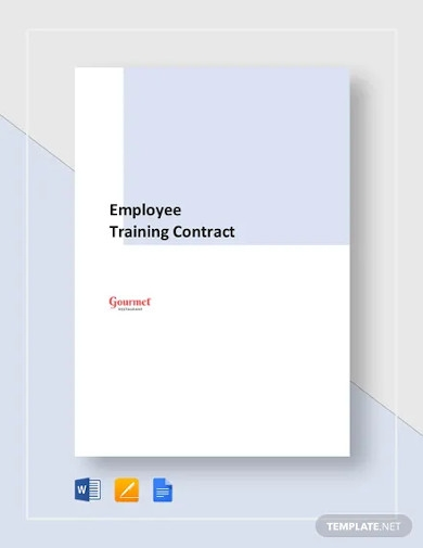restaurant employee training contract template