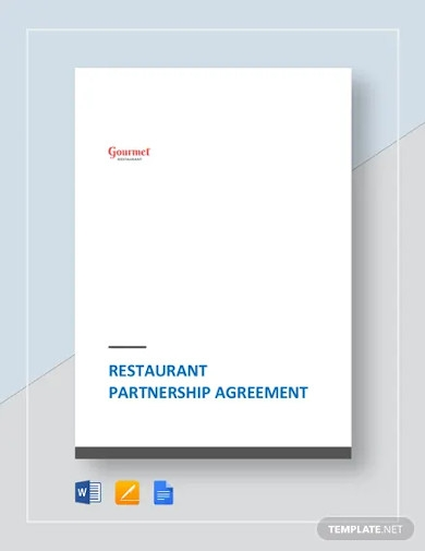 restaurant partnership agreement templates