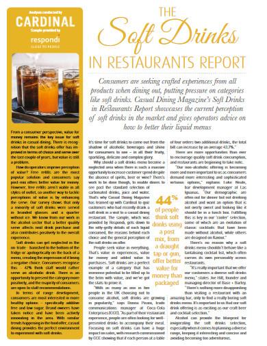 restaurant report example