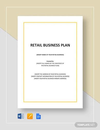 retail business plan template
