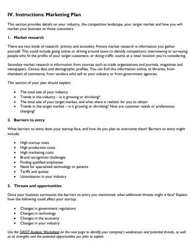 retail marketing business plan example