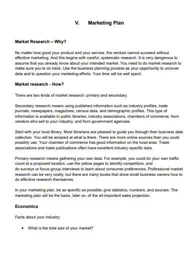 retail marketing business plan