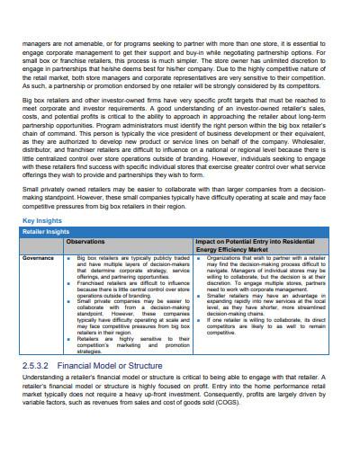 retailer business plan template