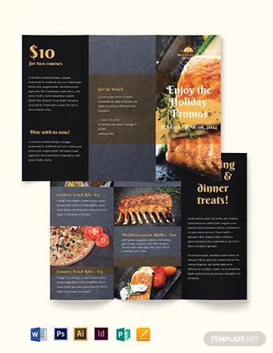 sale promotion brochure template