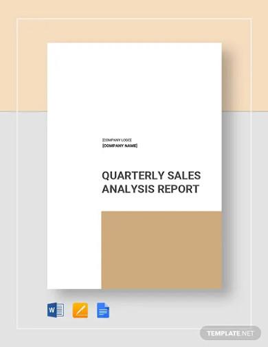 sales analysis report templates
