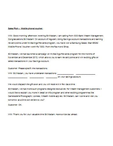 sales pitch in pdf