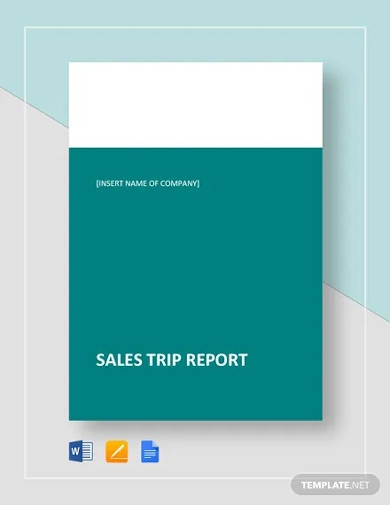 sales trip report templates