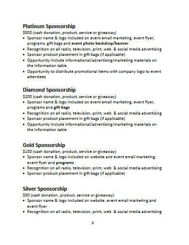 sample event sponsorship proposal template