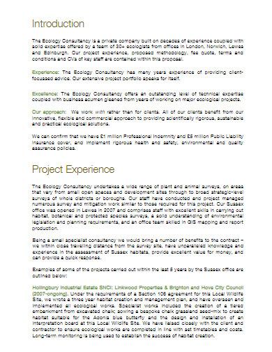 sample fee proposal
