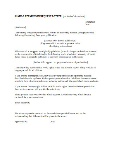 sample permission request letter in pdf