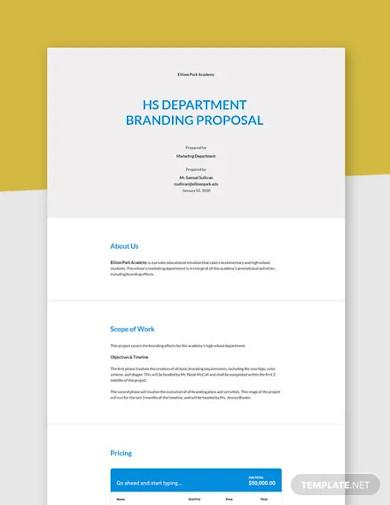 school branding proposal template