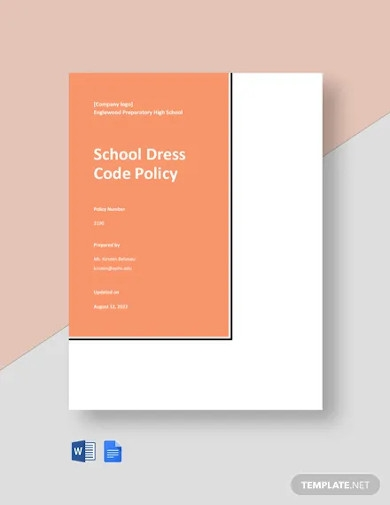 school dress code policy template