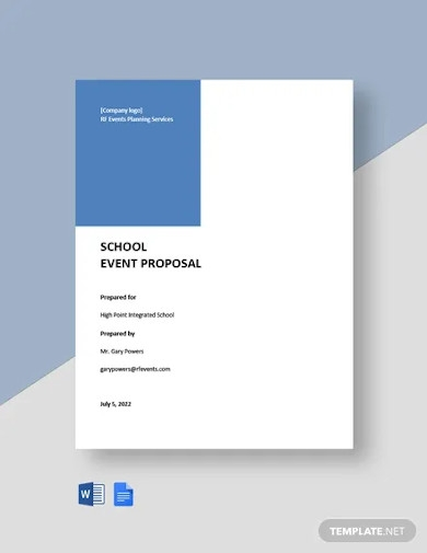 school event proposal template