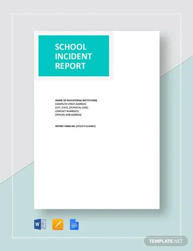 school incident report template