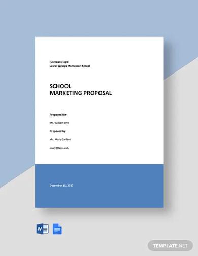 school marketing proposal template