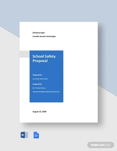 school safety proposal template