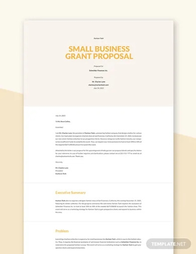 small business grant proposal