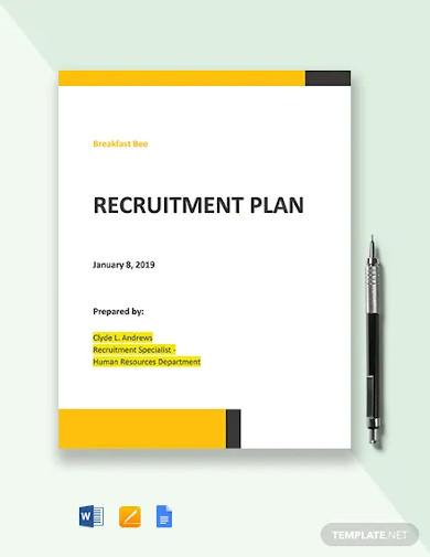 small business recruitment plan template