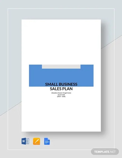 small business sales plan template