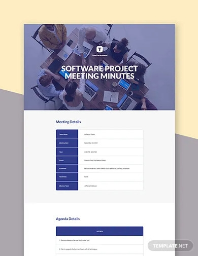 software project meeting minutes template