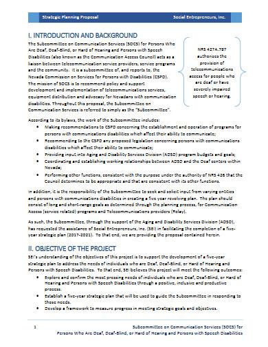 strategic planning proposal