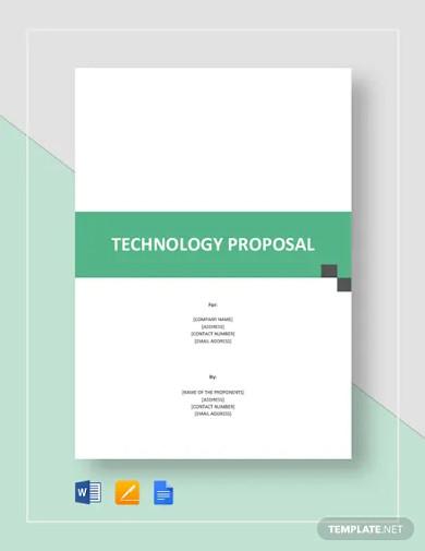 technology proposal template