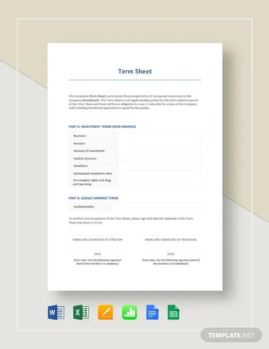 term sheet template
