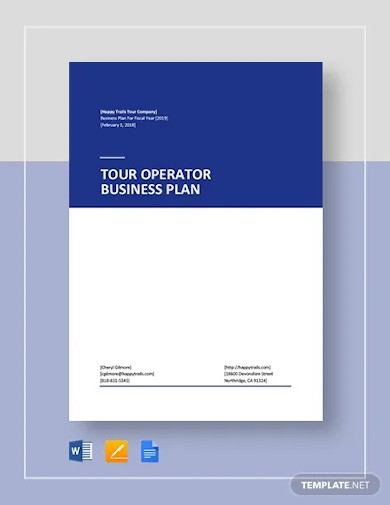 tour operator business plan template