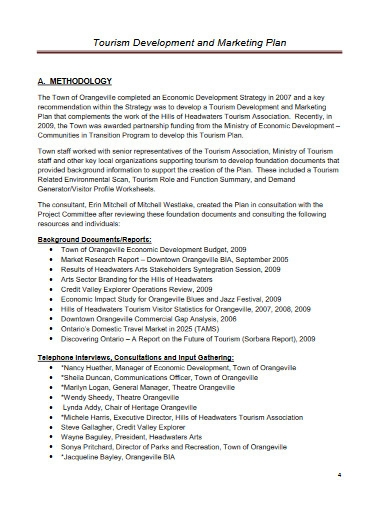 tourism development and marketing plan