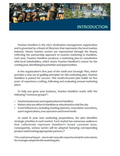 tourism marketing plan in pdf