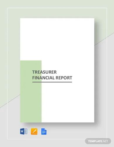 treasurer financial report template