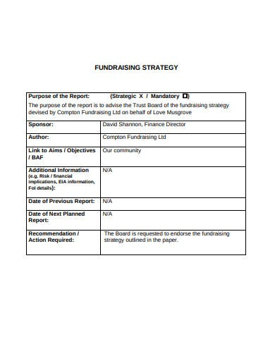trust fundraising strategy