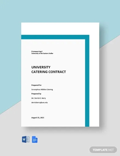 university catering contract template